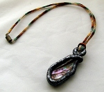 Abalone and polymer pendant (2)