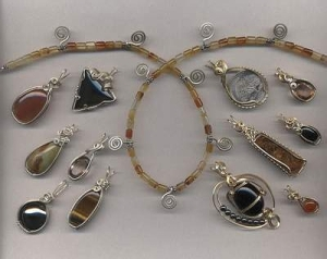wire wrapped, jewelry, gemstone