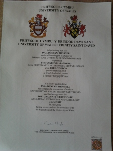 dunthor U Wales certificate