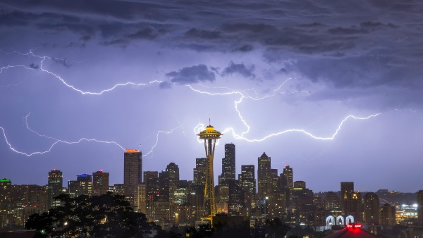 Lightning Over Seattle