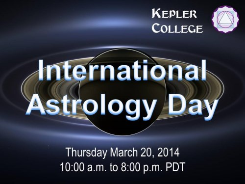 Join me at Kepler College's Astrology Day Cafe